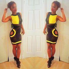 WAKE | PRAY | SLAY 💛⚜⚫️ #camaroswag #birthdaygirl #islay #blackandyellow #fashion #mode #seethrough #miami #miamifashion #girlsnigth #queen #slay #curves #style #sexydress ⚜⚫️🐝🐝🐝🐝🐝