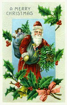 Victorian Christmas Greeting Card #2