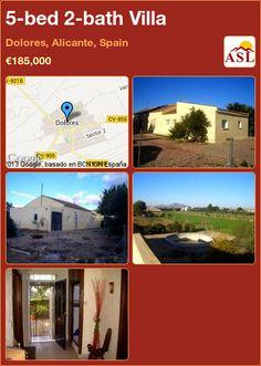 5-bed 2-bath Villa in Dolores, Alicante, Spain ►€185,000 #PropertyForSaleInSpain