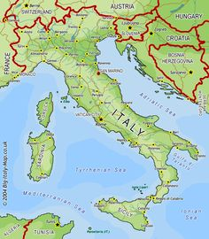 Large Map of Italy