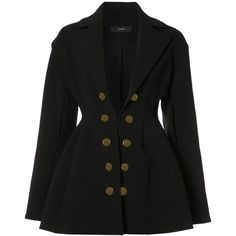 Ellery double breasted blazer (18.760.250 IDR) ❤ liked on Polyvore featuring outerwear, jackets, blazers, black, double-breasted blazer, blazer jacket, double breasted jacket and e l l e r y
