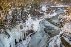 Upper Taughannock Winter by Mark Papke. To buy prints click on the picture.