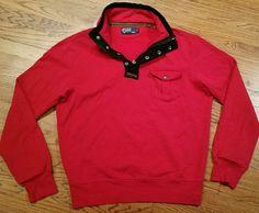 Polo Ralph Lauren half-zip Snap Sweatshirt Shirt Large, Elbow Patch Talon Zipper #PoloRalphLauren #14zipsnappulloversweatshirtshirt