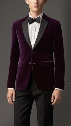 Burberry London Slim Fit Velvet Jacket