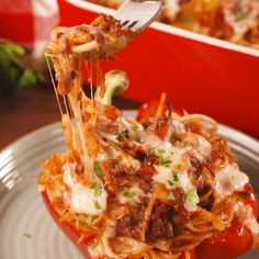 Make eating spaghetti fun again. #food #easyrecipe #familydinner #dinner #comfortfood