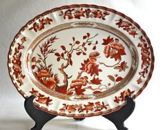 Spode Indian Tree Large Oval Serving Platter by PeriodElegance, $150.00
