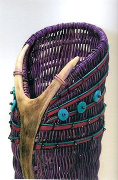 Antler Skep by Jill Choate, created for gallery opening in Poplar Bluff, MO.