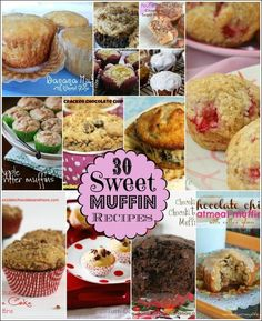 30 sweet muffin recipes
