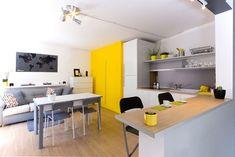 Um apartamento pequeno para você que gosta de amarelo - limaonagua