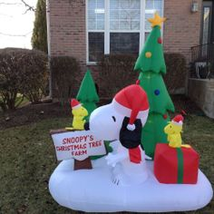 airblown inflatable prototype snoopy christmas scene