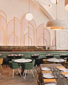 deco furniture Interior Trends: Populuxe Look of the New Art Deco Style Art Deco Hotel, Miami Art Deco, Art Deco Bar, Art Deco Decor, Wall Decor, Art Deco Colors, Art Deco Wall Art, Art Deco Wall Lights, Pub Decor
