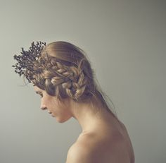 Herb Crown #photography #inspiration #women #hair #fall #braids