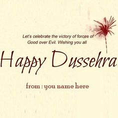 Write name on happy dussehra greetings cards g pinterest create nameyour family happy dussehra greeting cards name editor write name on happy dasera images m4hsunfo