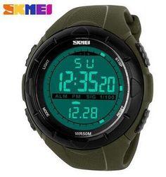 SKMEI Brand 1025 LED Digital Mens Military Watch Men Sports Watches 5ATM Swim Climbing Fashion Outdoor Casual Men Wristwatches