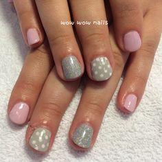 Courtney's nail design! #springnails #polkadots #pink #nailporn #nailgasm #nailart #nailjunkie #glitternails #glitter #notd #nailsdid #wowwownails #toronto