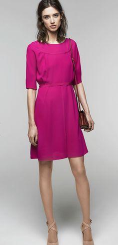 Nina Ricci Fuschia Dress - Summer 2014 Collection