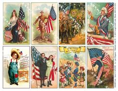 a variety of American patriotic cards