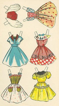 1962 Wanna See My Bath paper doll from Spain / tesorosdelayer.com