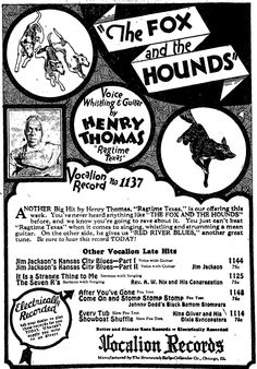 vocalion records - henry thomas  #vocalionrecords #theblues #henrythomas #ragtimetexas #thefoxandthehounds #jimjackson #kansascityblues #chicago