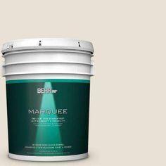 5 gal. #MQ3-13 Crisp Linen One-Coat Hide Semi-Gloss Enamel Interior Paint