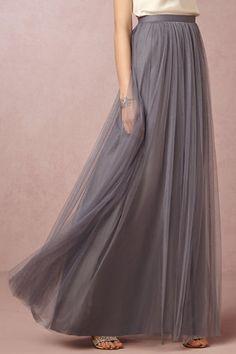 Grey Tulle Bridesmaid Skirt from BHLDN