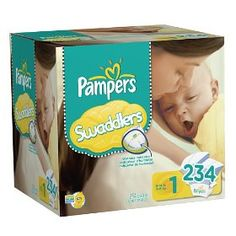 #7: Pampers Swaddlers Diapers Economy Pack Plus Size 1 234 Count.