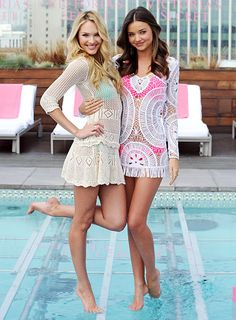 Cute Victoria's Secret cover-ups!  #swim #coverup #beach #vacay #vacation #outfit #resort #models #clothes #summer #fashion #style #pool