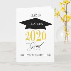 3740 Grandson Graduation Hat Card | Zazzle.com Graduation Cards, Graduation Ideas, Class Of 2020, Congratulations Card, Halloween Cards, You're Awesome, Custom Greeting Cards, Scrapbook Cards, Card Sizes
