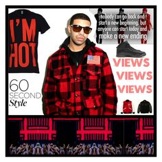 """""""Drake's Album Views Inspired Style!"""" by yours-styling-best-friend ❤ liked on Polyvore featuring River Island, Moschino, Drakes London, men's fashion, menswear, DRAKE, views and 60secondstyle"""