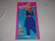 NEW ON CARD BARBIE LEE JEANS FASHIONS SET NO 68307 MATTEL 1995 NOC ARCOTOYS #Mattel