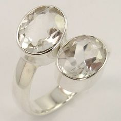 925 Sterling Silver Ring Size US 6.75 Natural CRYSTAL QUARTZ Gemstone Wholesale #Unbranded Silver Jewellery Indian, Quartz Crystal, Crystal Ring, Wholesale Jewelry, Natural Crystals, Diamond Engagement Rings, Sterling Silver Jewelry, Gemstone Rings, Gemstones