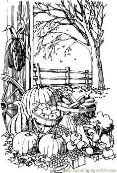 Pumpkins Sign of Pumpkins Garden Coloring Page Patterns for