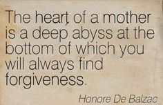 The heart of a mother is a deep abyss at the bottom of which you will always find forgiveness. ~Honoré de Balzac http://www.littleorganics.com.au #littleorganics #organic #motherhood #mummy #mommy