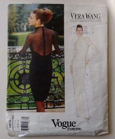 Part UNCUT Vogue 1908 American Designer Vera Wang Day Evening Cocktail Wedding Bridesmaid Dress Sizes Medium to Extra Large