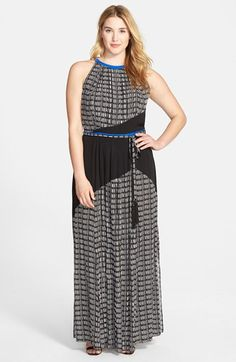 Adrianna Papell Colorblock Sleeveless Maxi Dress (Plus Size) available at #Nordstrom