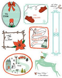 A Super-Duper Free Printable Holiday Gift Tag Roundup - Home - Creature Comforts - daily inspiration, style, diy projects + freebies