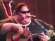 """Kaleohano """"Live"""" Israel Kamakawiwo'ole """"Iz"""" - one of his last public performances before he passed. Joined on stage be The Makaha Sons....made everyone in the audience cry. Miss you Bruddah."""