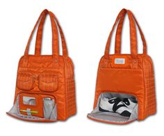 Get in Gear: Puddle Jumper Bag  Holy crap! If I ever actually left my garage to workout...I would so want this bag!