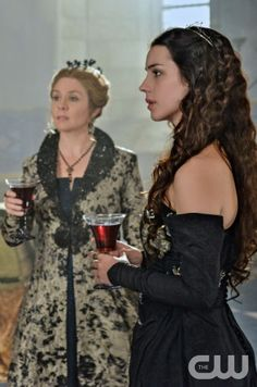 """Reign -- """"Left Behind"""" -- Image Number: RE107a_0266.jpg -- Pictured (L-R): -Megan Follows as Queen Catherine and Adelaide Kane as Mary, Queen of Scots - Photo: Sven Frenzel/The CW -- © 2013 The CW Network, LLC. All rights reserved."""