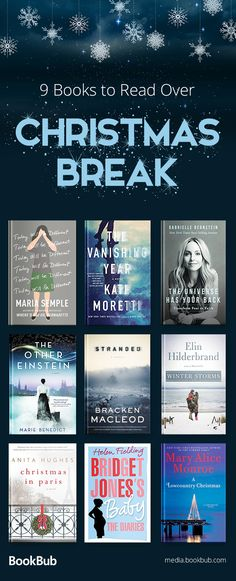 9 books to read over Christmas break, including books for Christmas, quick reads, funny books, and other books worth reading 2017.