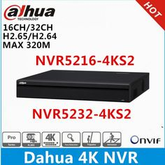 Buy Original Dahua English version & Network Video Recorder without PoE ports NVR Embedded Linux, 4 Channel, Ip Camera, Hot, Electronics Gadgets, Tech Gadgets, The Originals, English