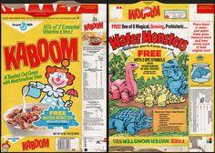 general+mills+cereal | General Mills - Kaboom - Free Water Monster - cereal box - 1989 ...