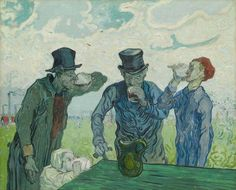 Art of the Day: Van Gogh, The Drinkers, February 1890. Oil on canvas, 59.4 x 73.4 cm. The Art Institute of Chicago.