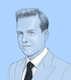 """Harvey Specter """"Suits"""" portrait Harvey Specter Suits, Portrait, Illustration, Art, Art Background, Headshot Photography, Kunst, Portrait Paintings, Illustrations"""