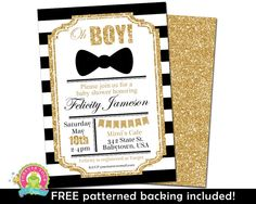 Boys Baby Shower Invitations Printable Baby by ForeverYourPrints