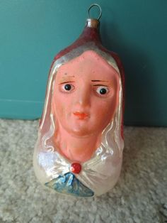 Vintage Glass Figural Madonna Head   eBay