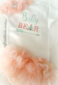 Baby Bear Baby Shirt -Bohemian Baby- Newborn Shirt - Coming Home Outfit - Teepee Shirt -  Boho Baby - Boho Onesie - Arrow Shirt -Shower Gift