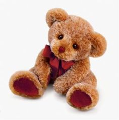 """there is something quite very sad about this one, and the colours are nice Theo 12"""" Plush Teddy Bear by Russ Berrie. 39413 £9.99"""