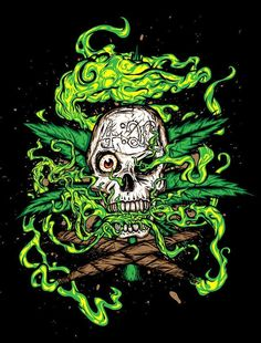 Well cannabis tutorials has every how to guide for cannabis you could ever ask for. Arte Dope, Dope Art, Trippy Wallpaper, Skull Wallpaper, Arte Black, Medical Marijuana, Psychedelic Art, Weed Art, Skull Art