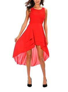 Romantik Paris Kleid Esther (rot)